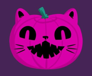 background, cat, and Halloween image