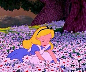 disney, flowers, and alice in wonderland image