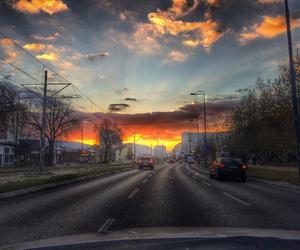 ride, sunset, and sarajevo image
