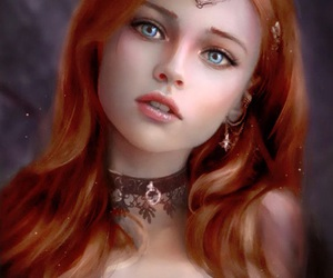 art, fantasy, and girl image