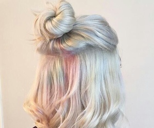 hair, hairstyle, and pastel image