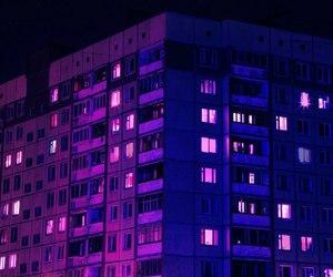 purple and city image