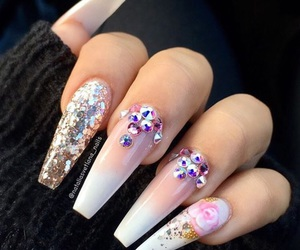 hands, luxury, and nail art image