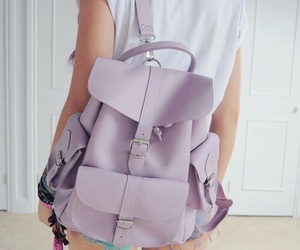 bag, pastel, and purple image