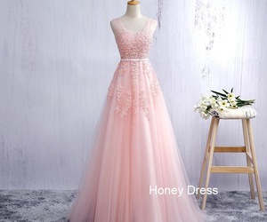evening dresses, pink, and a-line image