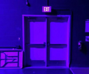 purple, exit, and glow image