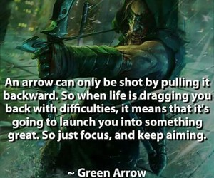 life, green arrow, and quotes image