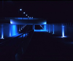 blue, light, and neon image