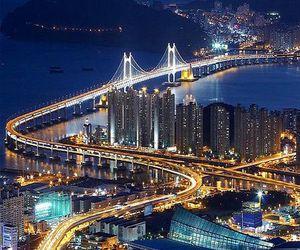 korea, city, and light image