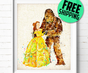 beauty and the beast, chewbacca, and belle image
