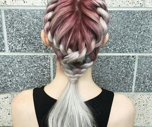 color, hair, and hair dye image