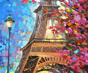 art, paris, and painting image