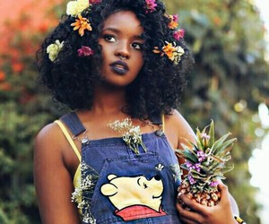 flowers, beauty, and black image