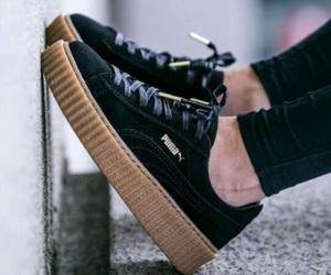 puma, shoes, and black image
