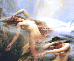 angels, painting, and art image