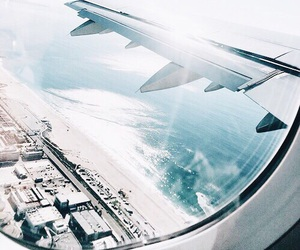 airplane, tumblr, and water image