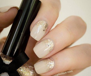 nails, glitter, and nail art image