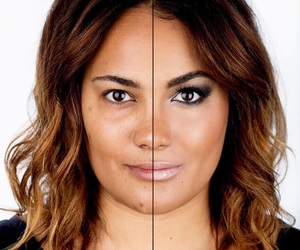 beauty, before and after, and eyes image