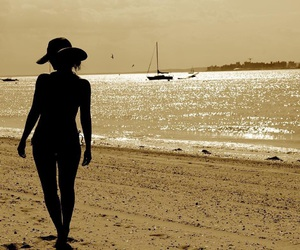 bathing suit, beach, and fashion image