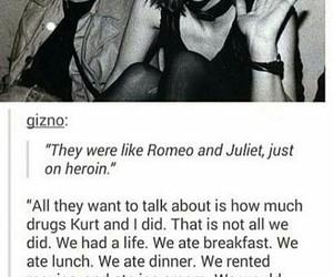 kurt cobain, Courtney Love, and love image
