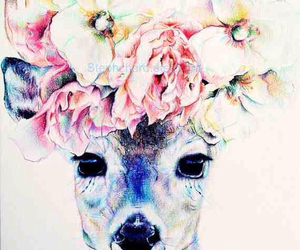 flowers, animal, and art image