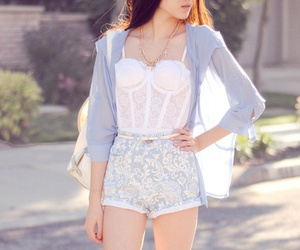 casual, corset, and lace image