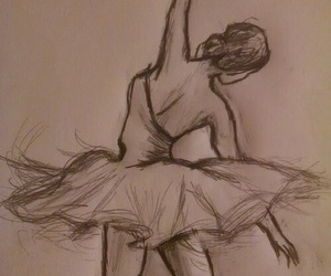 art, ballerina, and cute image