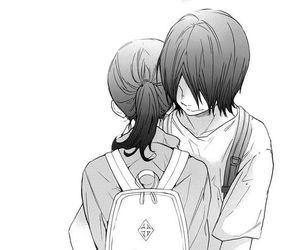 manga and hug image