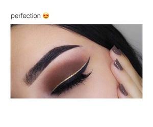 eyebrows, make-up, and eyeliner image