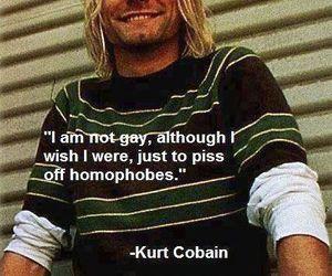 kurt cobain, nirvana, and gay image