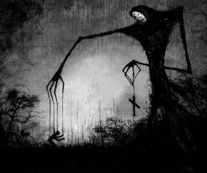 dark, art, and creepy image