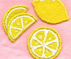 lemon, patches, and yellow image