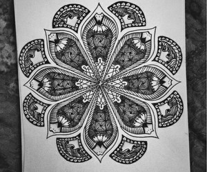 art, doodle, and black and white image