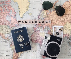 travel, wanderlust, and camera image