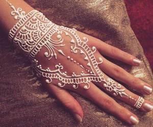henna, white, and beauty image