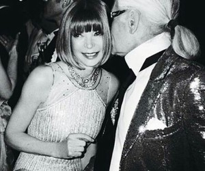 fashion, Anna Wintour, and karl lagerfeld image