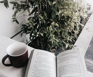 book, indie, and coffee image