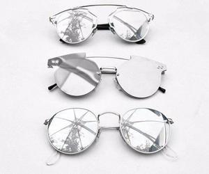fashion, sunglasses, and silver image