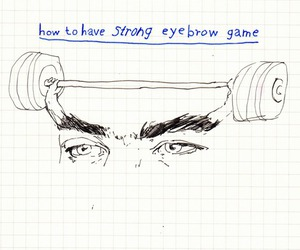 eyebrows, funny, and grunge image