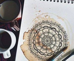 art, coffee, and mandala image