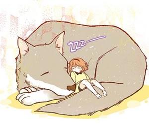 alpha, kawaii, and wolves image