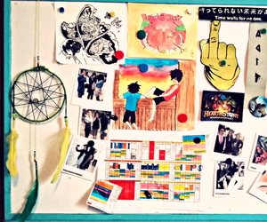 college, room, and drawings image
