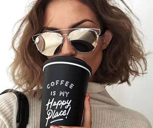 cateye, coffee, and cateyesunglasses image