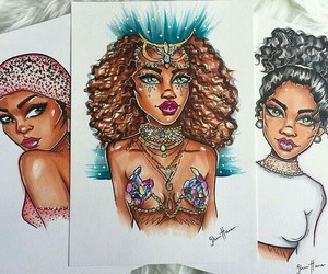 art, drawing, and rihanna image