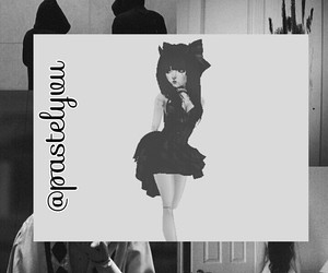 black and white, goth, and broken doll image