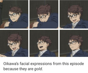 anime, haikyuu, and iwaoi image