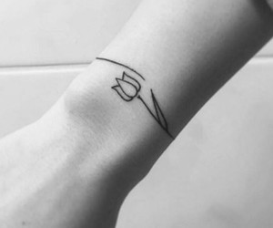 minimalist, tulip, and tattoo image