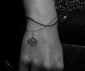 flower, lotus, and tattoo image