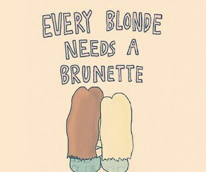 blonde, brunette, and bff image