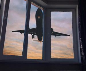 airplane, sky, and inspiration image